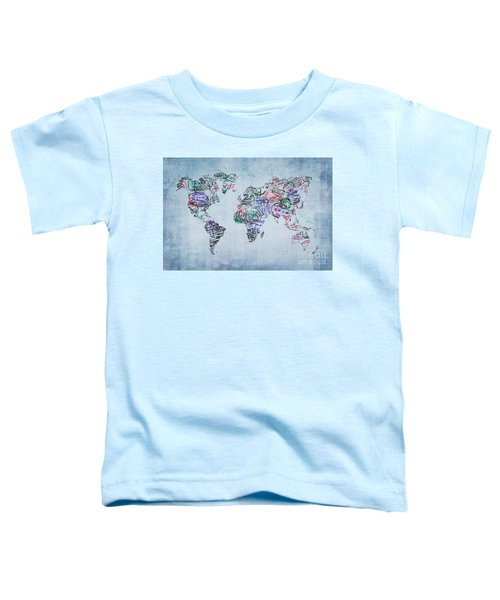 Traveler World Map Toddler T-Shirt