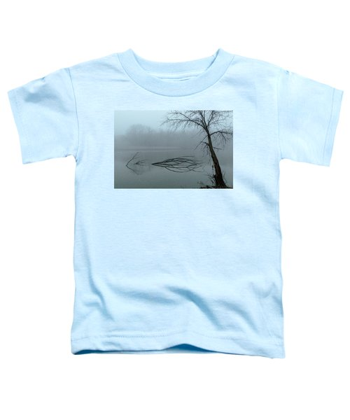 Trees In The Fog On The River Toddler T-Shirt