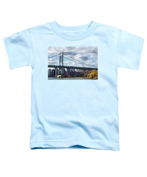 Triboro Bridge In Autumn Toddler T-Shirt