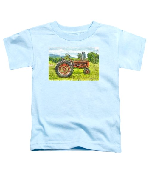 Trusty Old Red Tractor Pencil Toddler T-Shirt