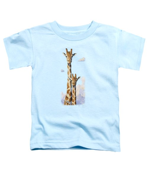 Two Heads In The Clouds Toddler T-Shirt by Lucie Bilodeau