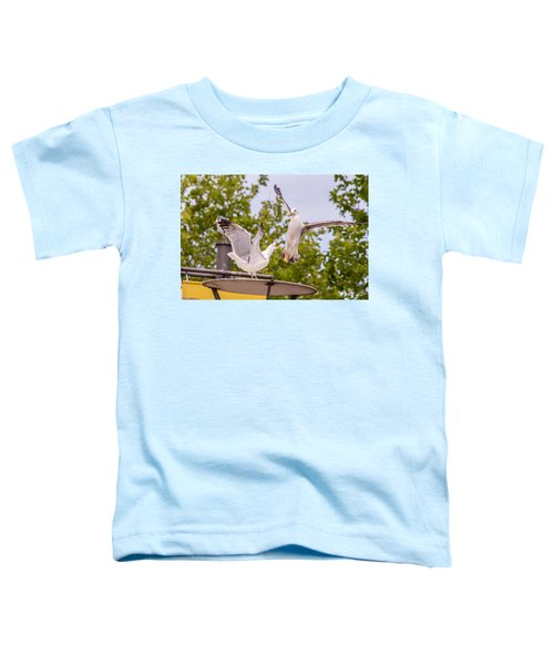 Two Seabird Fighting Toddler T-Shirt