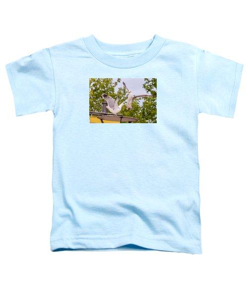 Two Seabird Fighting Toddler T-Shirt