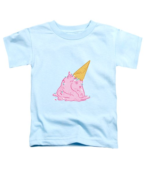 Unicorn Melts Toddler T-Shirt by Evgenia Chuvardina
