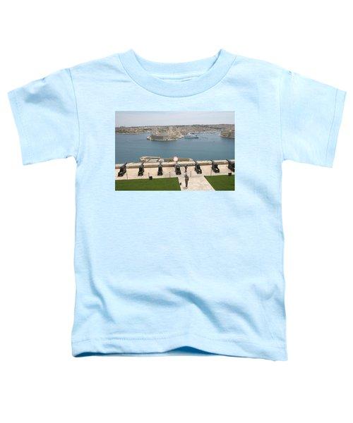 Toddler T-Shirt featuring the photograph Upper Barrakka Saluting Battery by Travel Pics