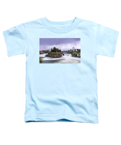 Upper Spokane Falls On A Rainy Day Toddler T-Shirt