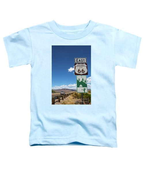 Us Route 66 Sign Arizona Toddler T-Shirt