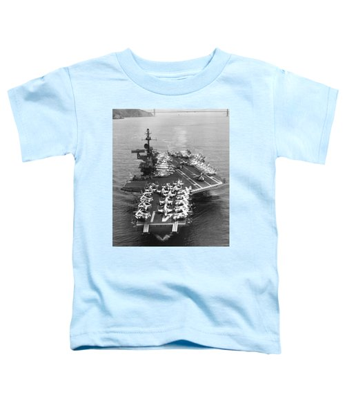 Uss Midway Leaves Sf Toddler T-Shirt