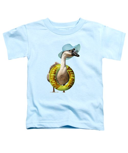 Vacation Time For Summer Goose Toddler T-Shirt by Gravityx9 Designs