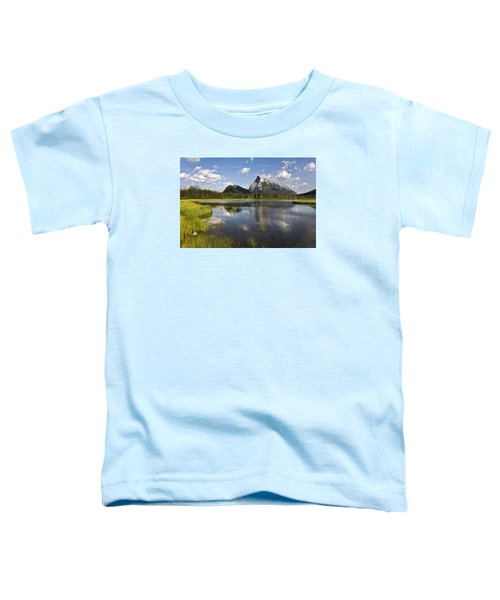 Vermillion Lake And Sulpher Mountain Toddler T-Shirt
