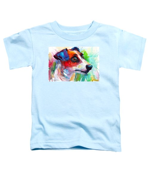 Vibrant Jack Russell Terrier Dog Toddler T-Shirt