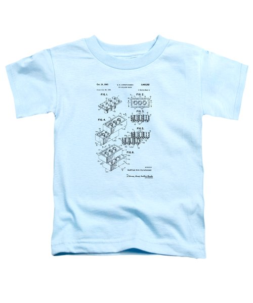 Vintage 1961 Toy Building Brick Patent Art Toddler T-Shirt