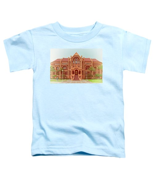 Vintage Architectural Photograph Of Ashbel Smith Old Red Building At Utmb - Downtown Galveston Texas Toddler T-Shirt