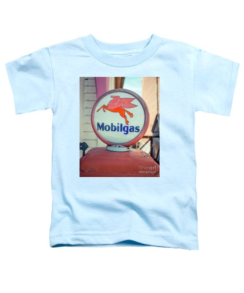 Vintage Mobil Gas Pump Toddler T-Shirt