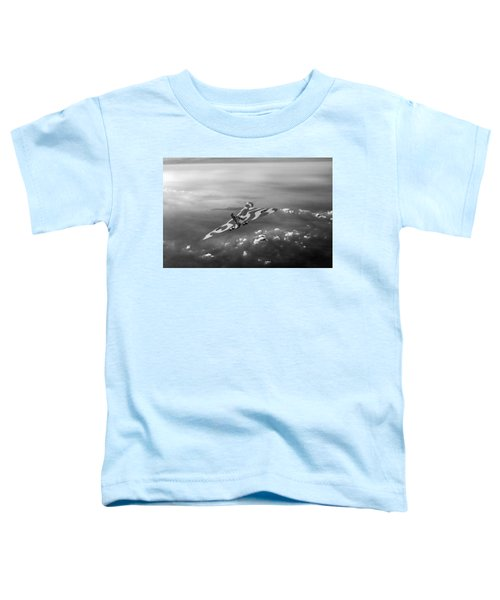 Vulcan Over The Channel Black And White Version Toddler T-Shirt