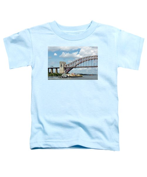 Hell Gate Bridge And Barge Toddler T-Shirt
