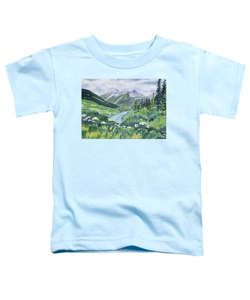 Watercolor - Colorado Summer Landscape Toddler T-Shirt