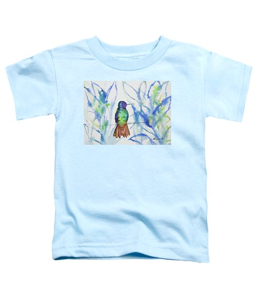 Watercolor - Golden-tailed Sapphire Toddler T-Shirt