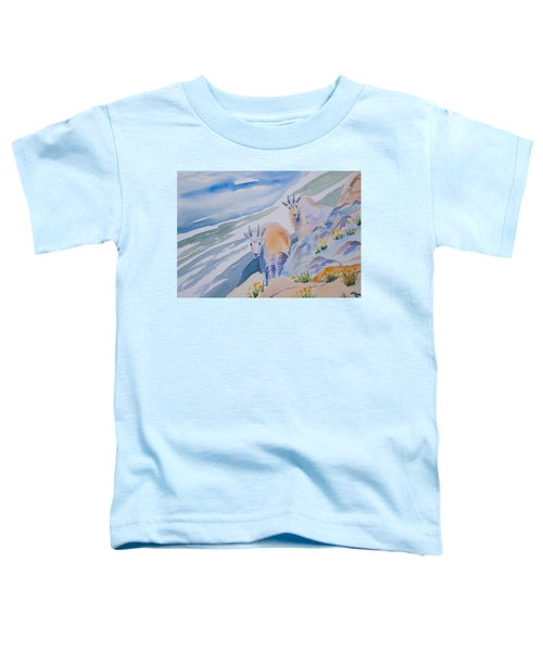 Watercolor - Mountain Goats On Quandary Toddler T-Shirt