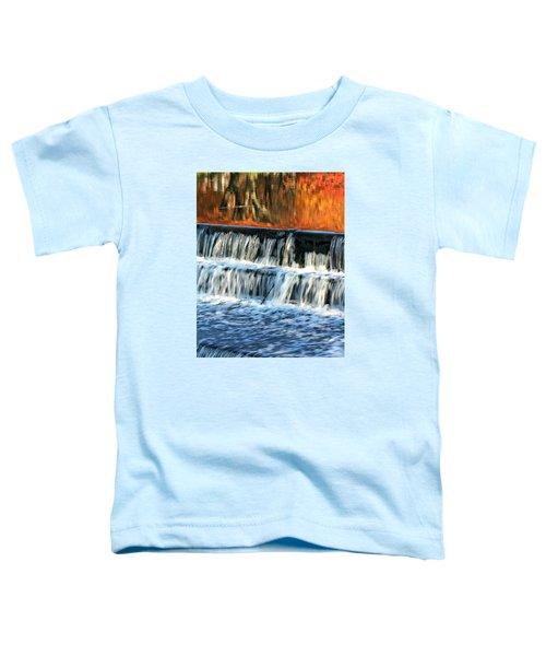 Waterfall In Downtown Waukesha Toddler T-Shirt