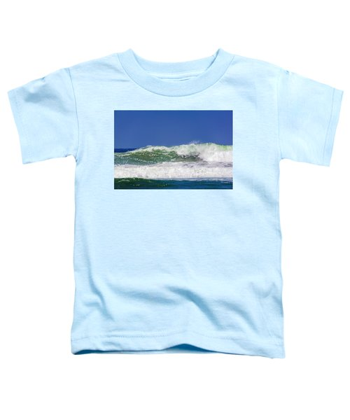 Wave Rolling To The Beach Toddler T-Shirt