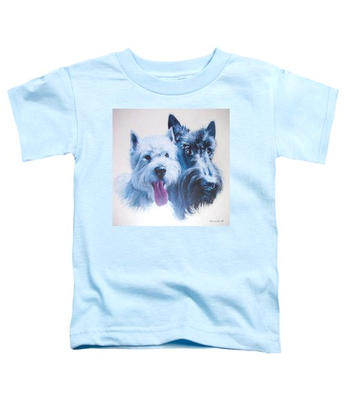 Westie And Scotty Dogs Toddler T-Shirt