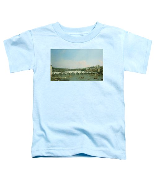 Westminster Bridge From The North With Lambeth Palace In Distance Toddler T-Shirt