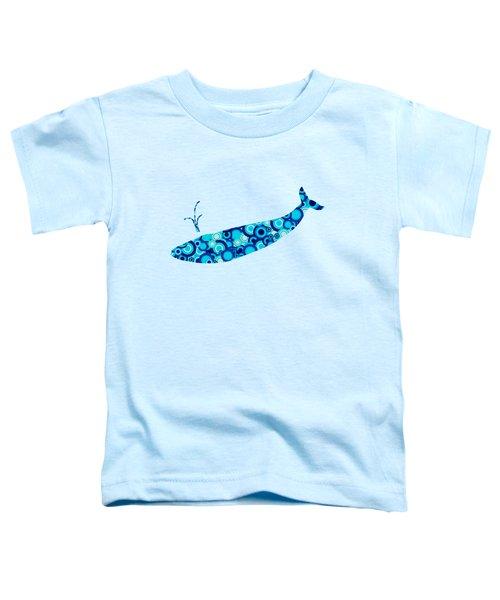 Whale - Animal Art Toddler T-Shirt by Anastasiya Malakhova