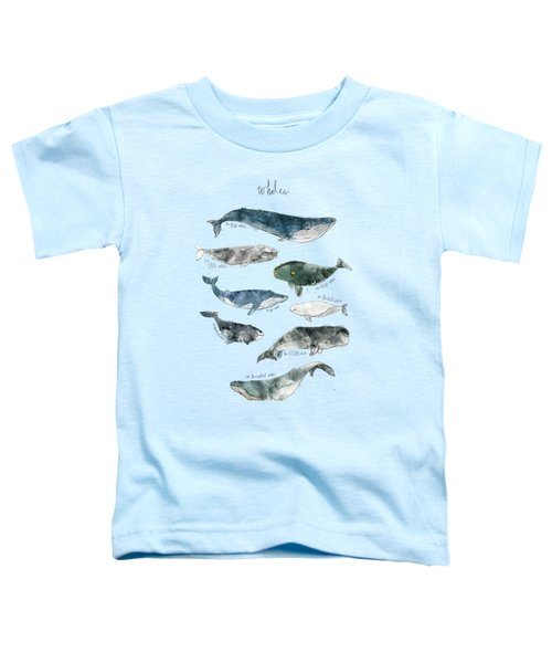 Whales Toddler T-Shirt by Amy Hamilton