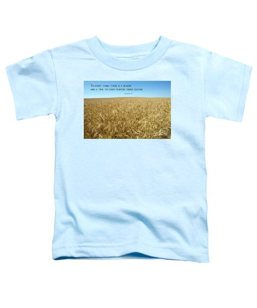 Wheat Field Harvest Season Toddler T-Shirt