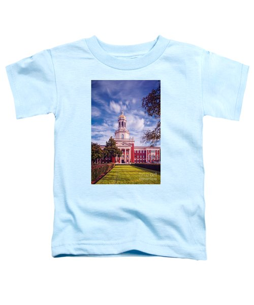 Whimsical Clouds Behind Pat Neff Hall - Baylor University - Waco Texas Toddler T-Shirt