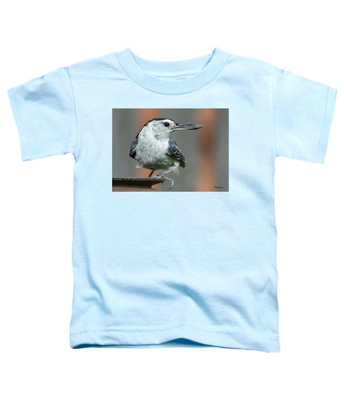 White-breasted Nuthatch With Sunflower Seed Toddler T-Shirt