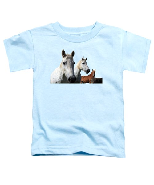 White Camargue Horses Toddler T-Shirt