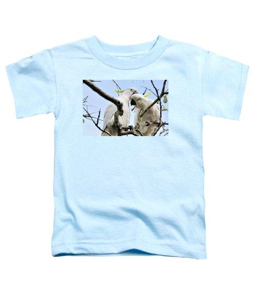 White Cockatoos Toddler T-Shirt by Kaye Menner