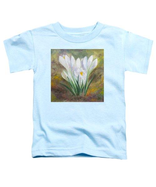 White Crocus Toddler T-Shirt