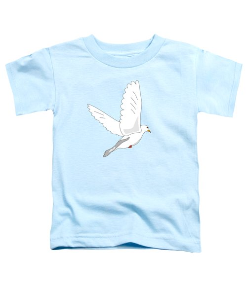 White Dove Toddler T-Shirt by Miroslav Nemecek
