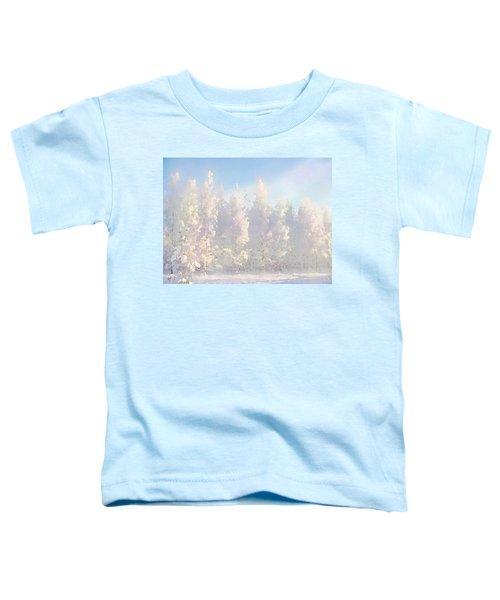 White Forest Morning Toddler T-Shirt