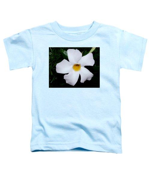 White Mandevilla Toddler T-Shirt