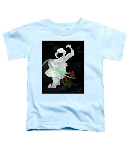 White, Red And Green Lily Toddler T-Shirt