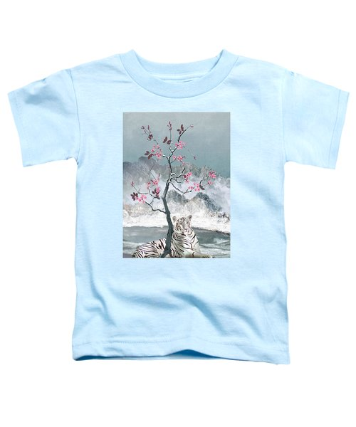 White Tiger And Plum Tree Toddler T-Shirt