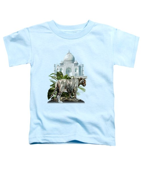 White Tiger And The Taj Mahal Image Of Beauty Toddler T-Shirt