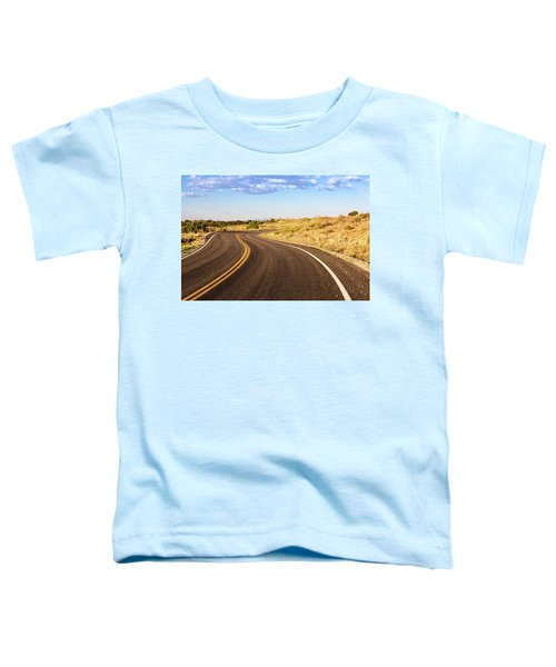 Winding Desert Road At Sunset Toddler T-Shirt