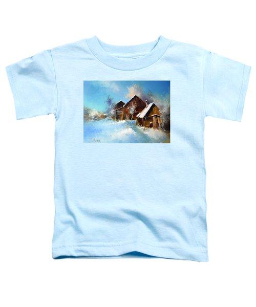 Winter Cortyard Toddler T-Shirt