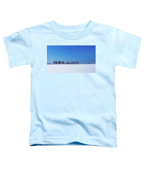 Winter Farm Blue Sky Toddler T-Shirt
