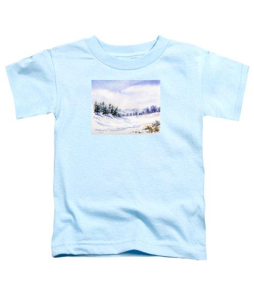 Winter Landscape Snow Scene Toddler T-Shirt