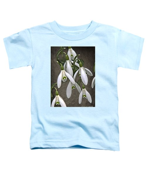 Winter Snowdrop Canvas Toddler T-Shirt