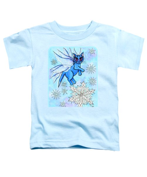 Winter Snowflake Fairy Cat Toddler T-Shirt