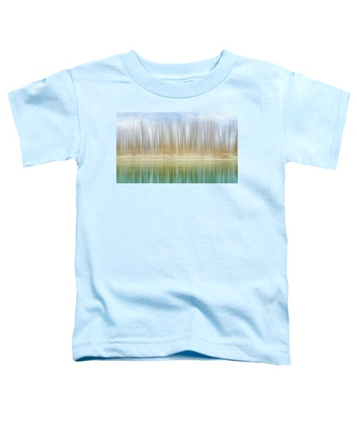 Winter Trees On A River Bank Reflecting Into Water Toddler T-Shirt