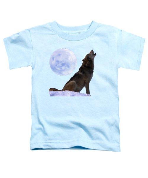Wolf Howling Toddler T-Shirt
