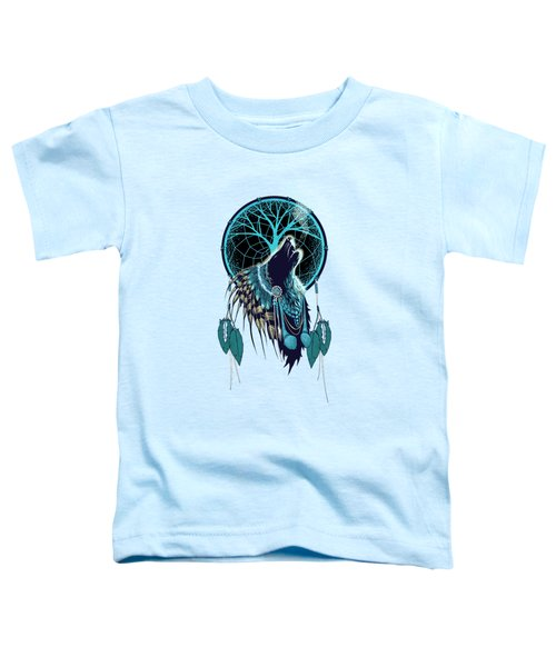 Wolf Indian Shaman Toddler T-Shirt